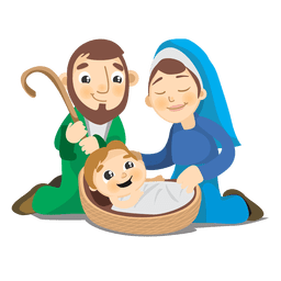 Birth of jesus christ cartoon