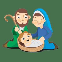 Nacimiento de la caricatura de jesus cristo.