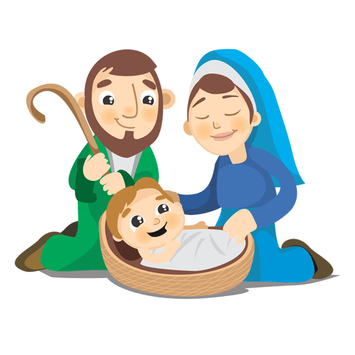 Birth of jesus christ cartoon Transparent PNG