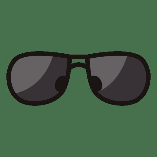Icono de gafas de sol negro Transparent PNG