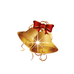 Blinking golden christmas bell