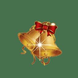 Campana de navidad dorada parpadeante