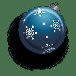 Adorno navideño azul 3d