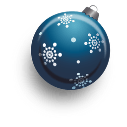 Blue 3d christmas bauble