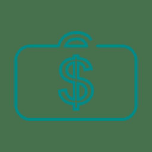 Azul maletin linea icon svg - Descargar PNG/SVG transparente