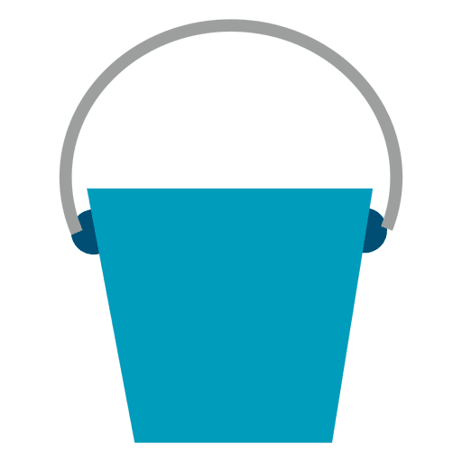 Blue Bucket Flat Icon Transparent Png Amp Svg Vector