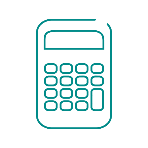 Blue calculator icon.svg png