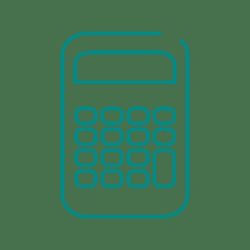 Blue calculator icon.svg