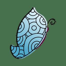 Patrón de círculo azul mariposa