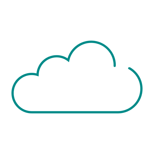 Blue cloud line icon.svg - Transparent PNG & SVG vector
