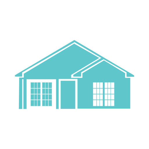 Blue flat houses icon png