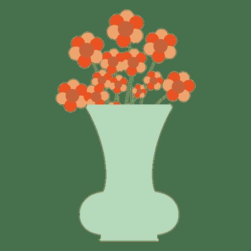 Blue flower tub icon