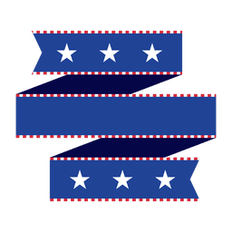 Cinta azul de origami de Estados Unidos