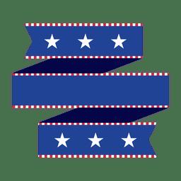 Fita de origami dobrada azul EUA