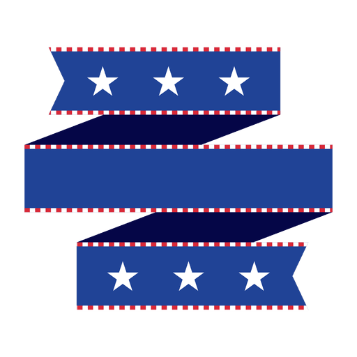 Blue folded origami usa ribbon Transparent PNG