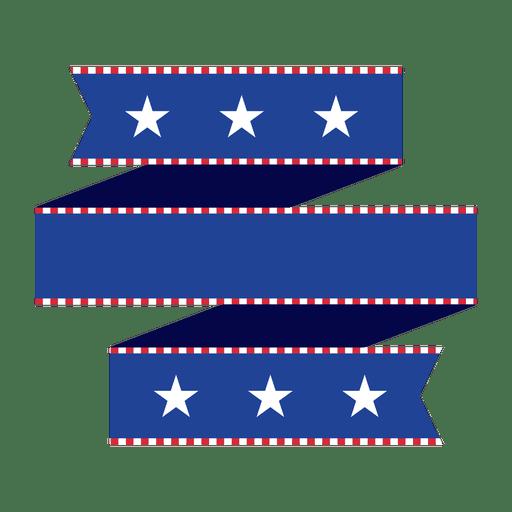 Fita de origami dobrada azul EUA Transparent PNG