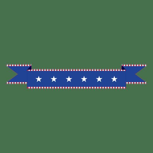 Cinta de Estados Unidos doblada azul Transparent PNG