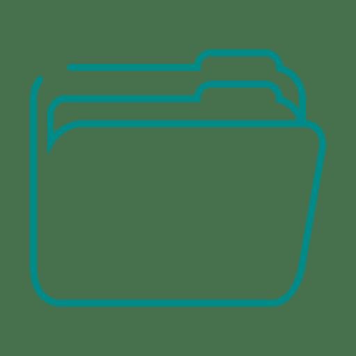 Linha de pasta azul icon.svg Transparent PNG