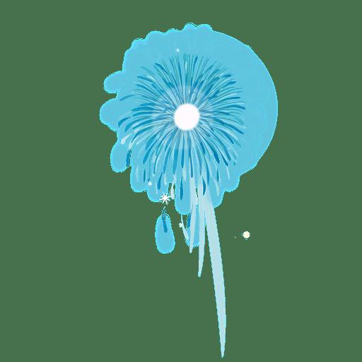 Blue glittery firework Transparent PNG
