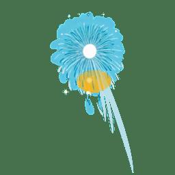 Fogo de artifício azul brilhante