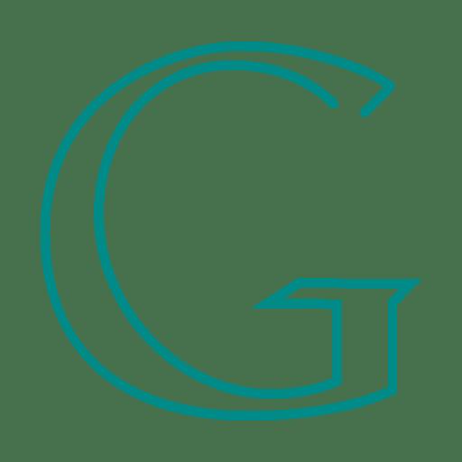 Blue google sign line icon.svg Transparent PNG