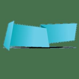 Banner de origami horizontal azul