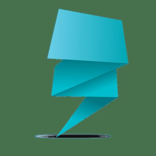 Blue Origami Banner Transparent PNG