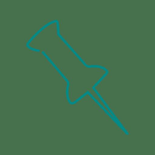 blue paper pin line icon svg transparent png svg vector