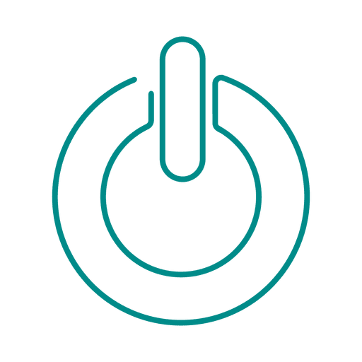Blue power line icon.svg