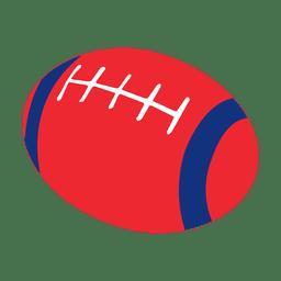 Pelota de rugby rojo azul