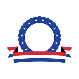 Blue ring usa ribbon badge