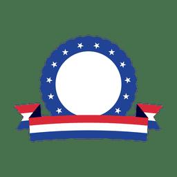 Distintivo de fita EUA anel azul
