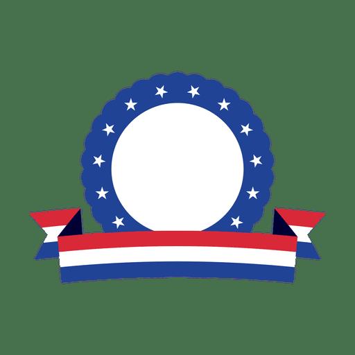 Blue ring usa ribbon badge - Transparent PNG & SVG vector