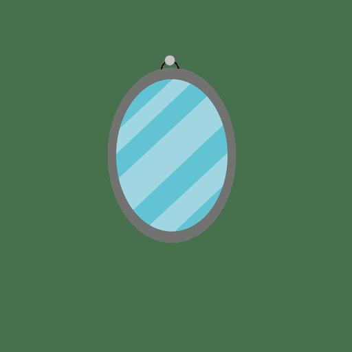 Espejo de pared redondo azul Transparent PNG