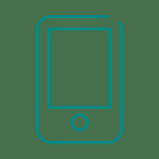 Línea de teléfono inteligente azul icon2.svg Transparent PNG