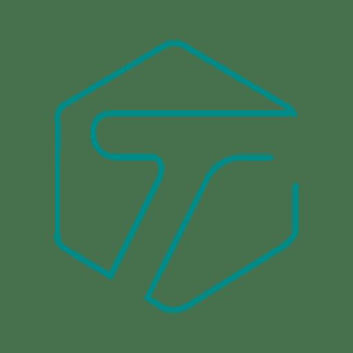 Azul t social linea icon svg - Descargar PNG/SVG transparente