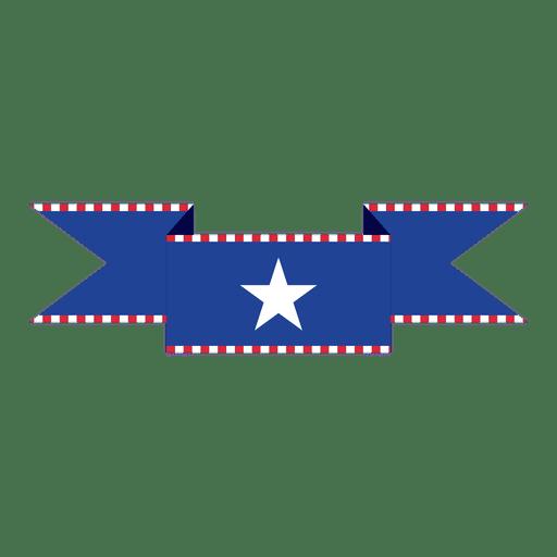 Cinta de la bandera de Estados Unidos azul Transparent PNG