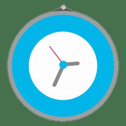 Relógio de parede azul