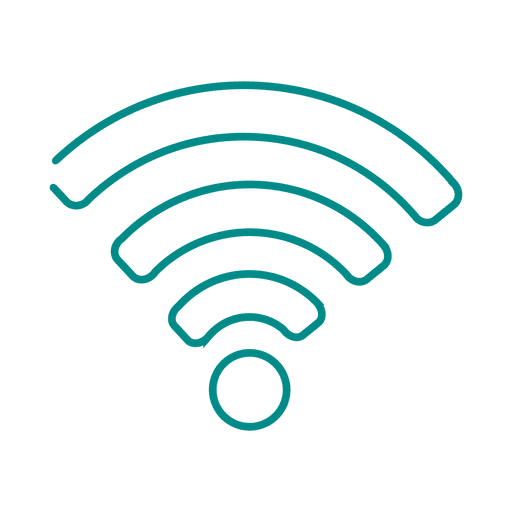 Blue wifi line icon2.svg Transparent PNG