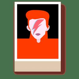 Bowie cartoon portrait