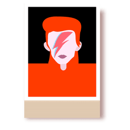 Retrato de dibujos animados de Bowie