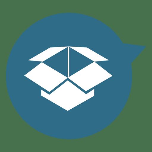 Box circle pointer icon Transparent PNG