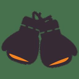 Icono de guantes de boxeo planos