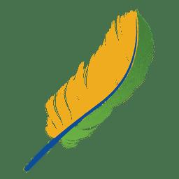 Brazil flag feather