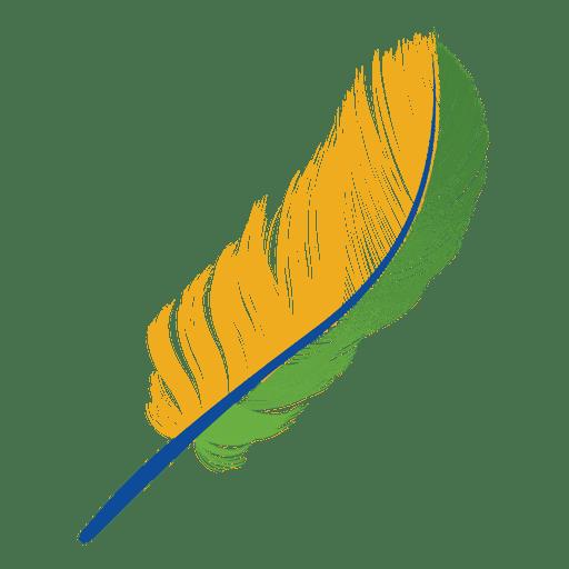 Pluma de la bandera de brasil