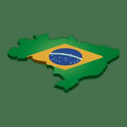 Brasilien Wahrzeichen Flagge