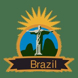 Etiqueta olímpica de brasil