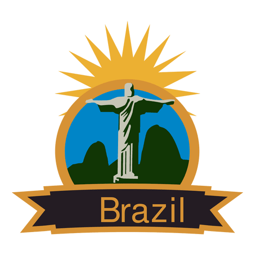 Brazil olympic label Transparent PNG