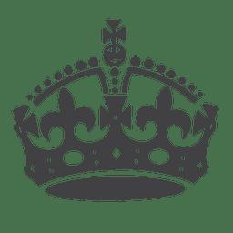Corona británica silueta