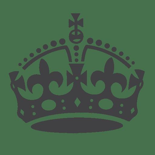 Britain crown silhouette Transparent PNG